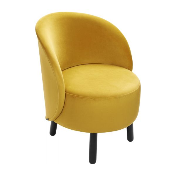 bold fauteuil en velours jaune habitat. Black Bedroom Furniture Sets. Home Design Ideas