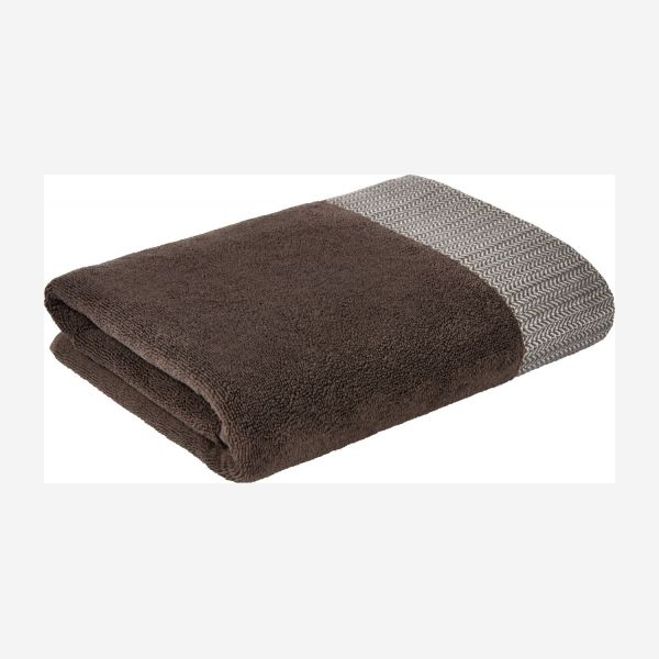 Brown bath towel 70 x 140