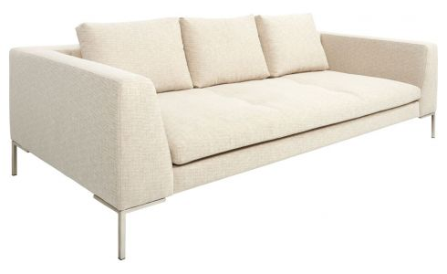 3 seater sofa in Ancio fabric, nature