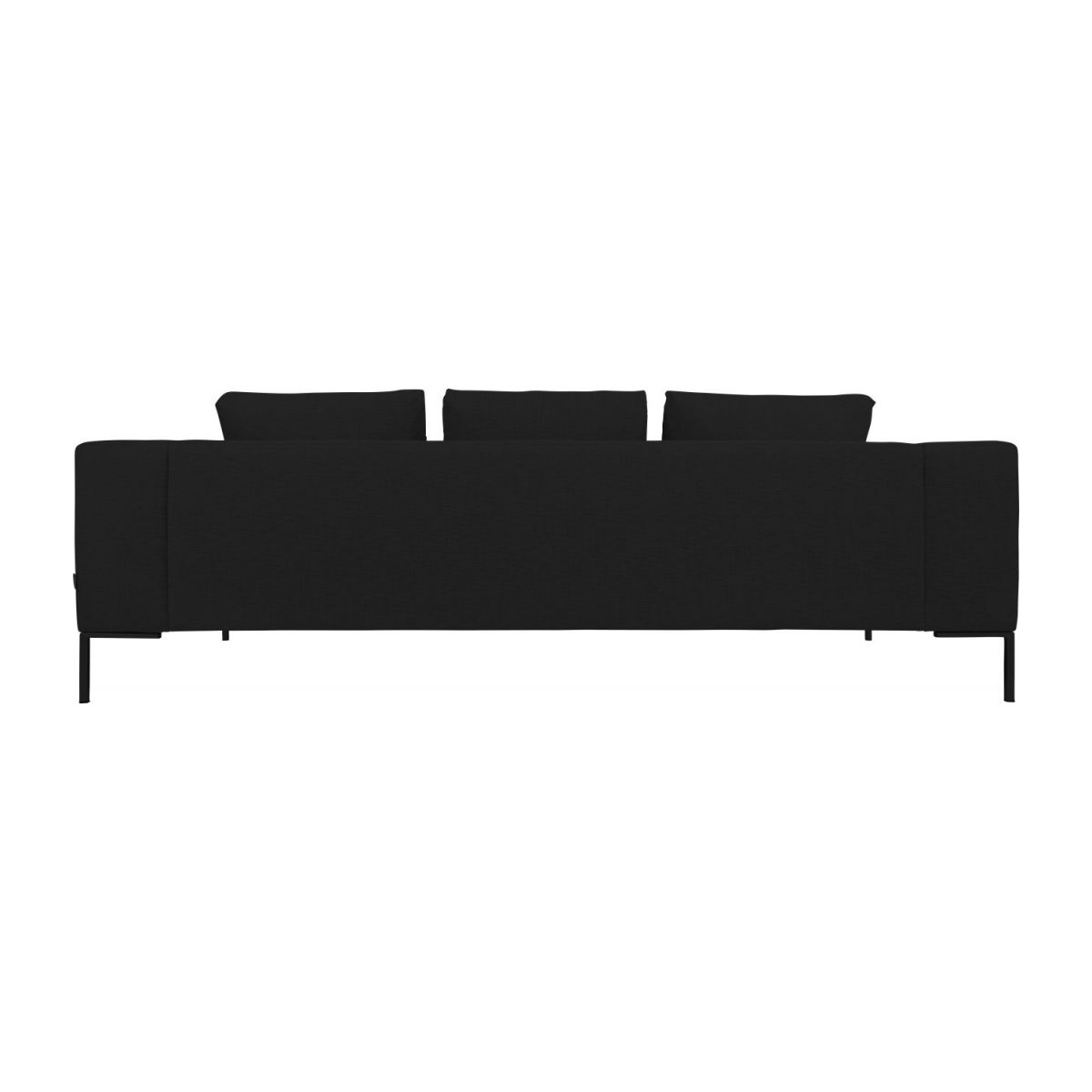 3 seater sofa in Ancio fabric, nero n°4