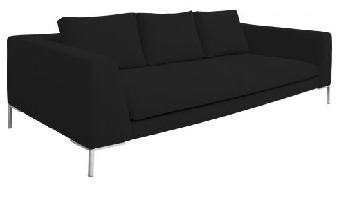 3 seater sofa in Ancio fabric, nero