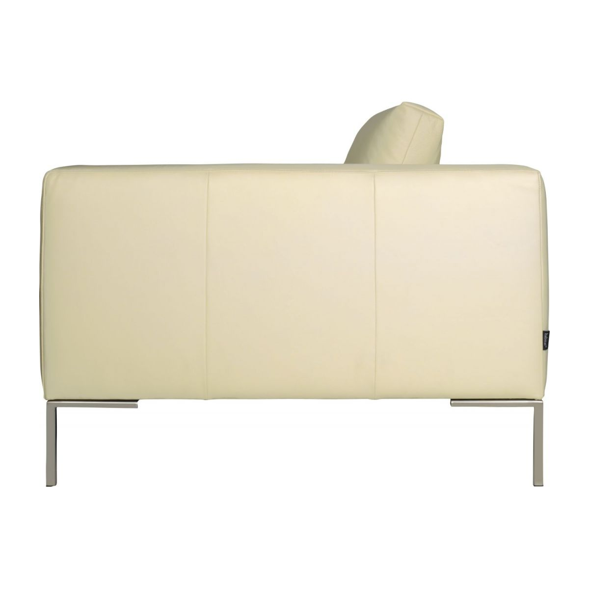 3 seater sofa in Eton veined leather, cream n°5
