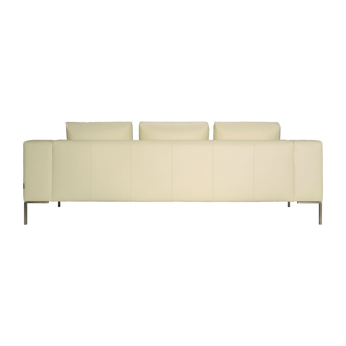 3 seater sofa in Eton veined leather, cream n°4