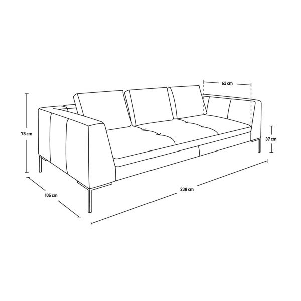 3-seater leather sofa  n°10