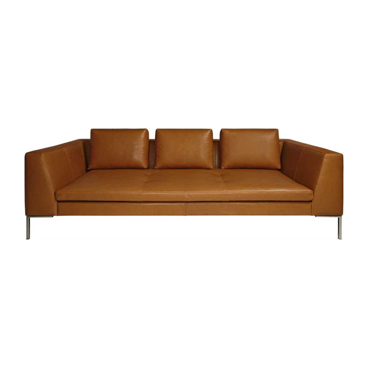 3-Sitzer Sofa aus Anilinleder Vintage Leather old chestnut n°3