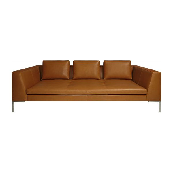 3-seater leather sofa  n°3