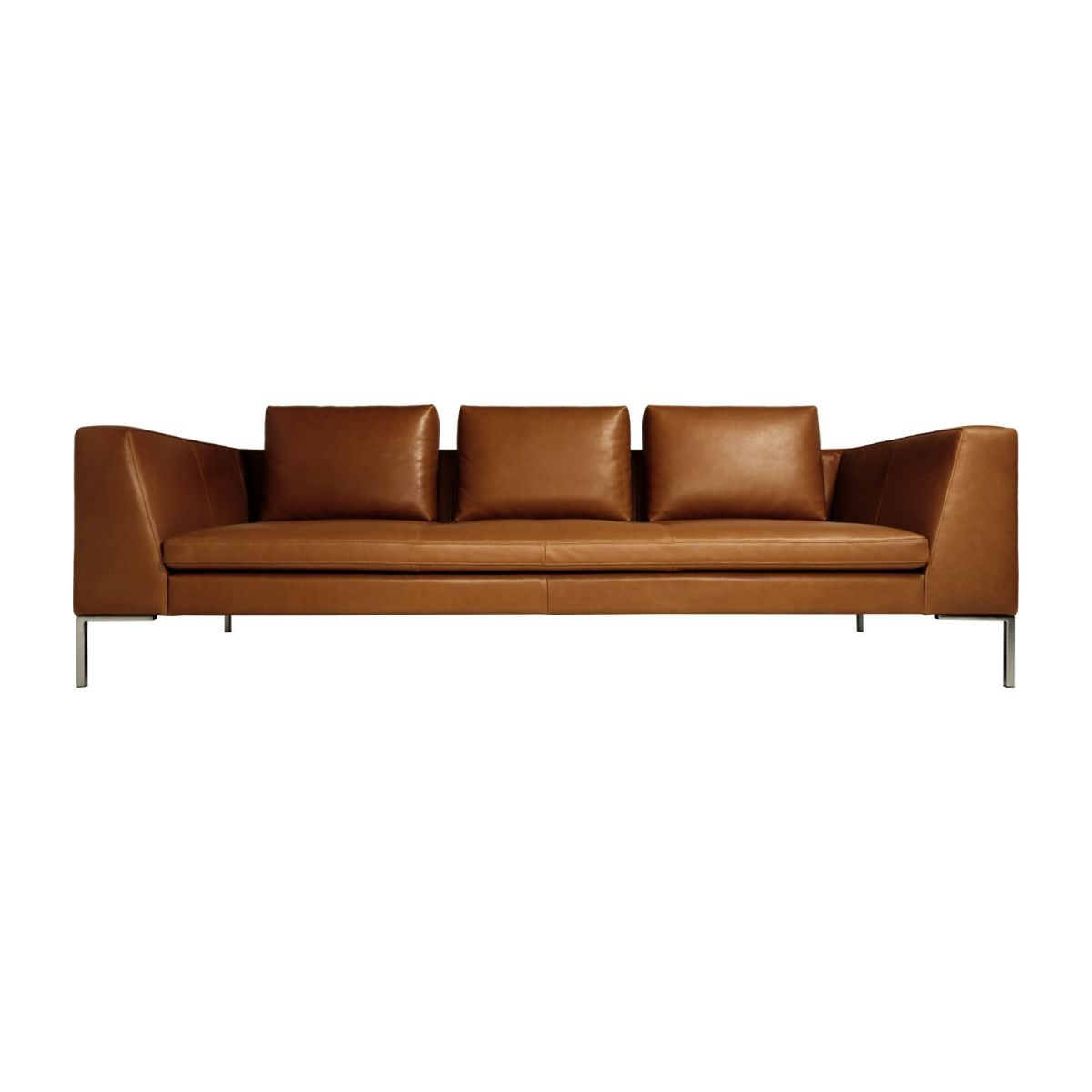 3-Sitzer Sofa aus Anilinleder Vintage Leather old chestnut n°4