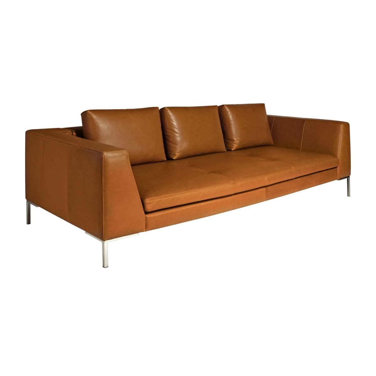 3-Sitzer Sofa aus Anilinleder Vintage Leather old chestnut n°1
