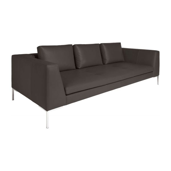 montino 3 sitzer sofa mit lederbezug habitat. Black Bedroom Furniture Sets. Home Design Ideas
