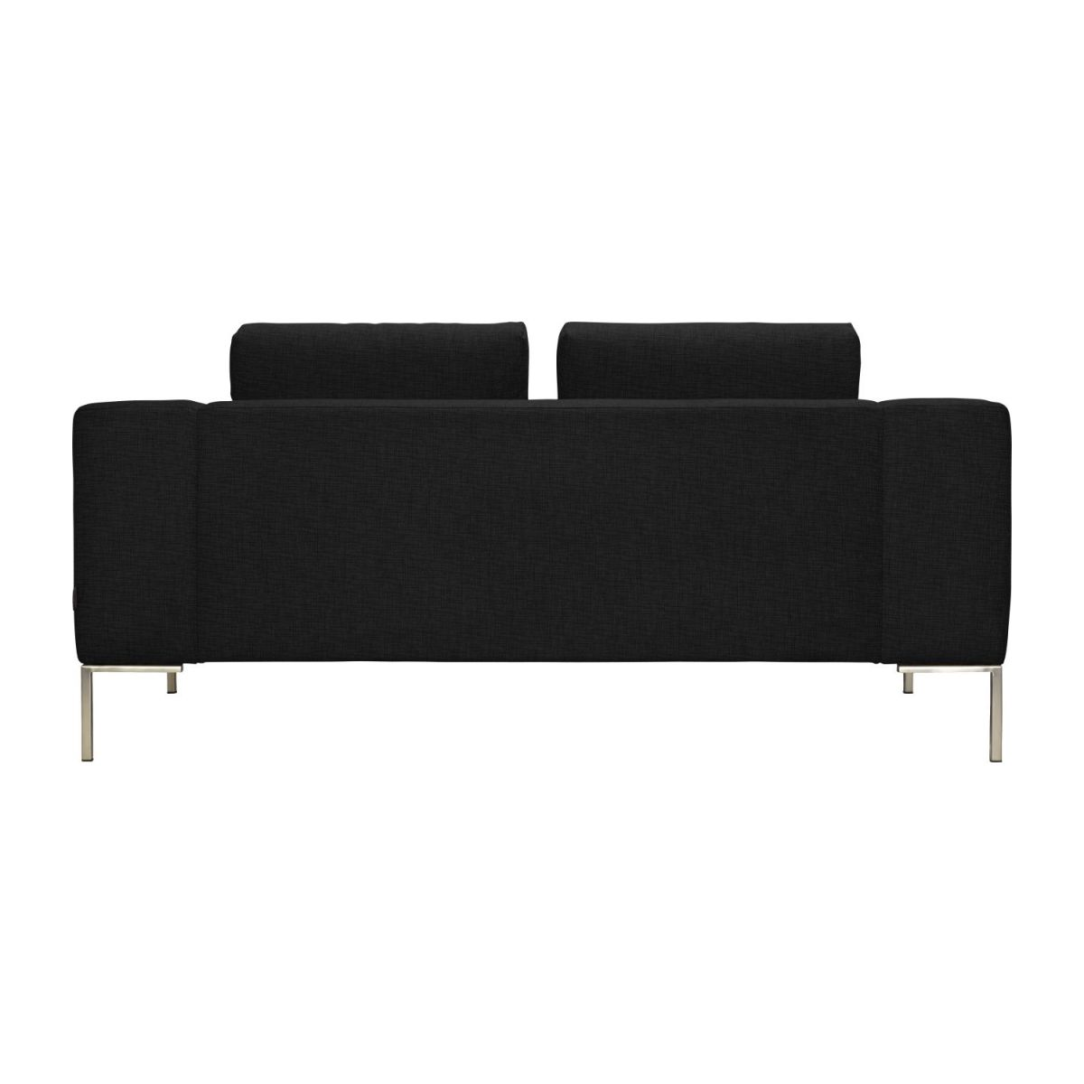 2 seater sofa in Ancio fabric, nero n°5