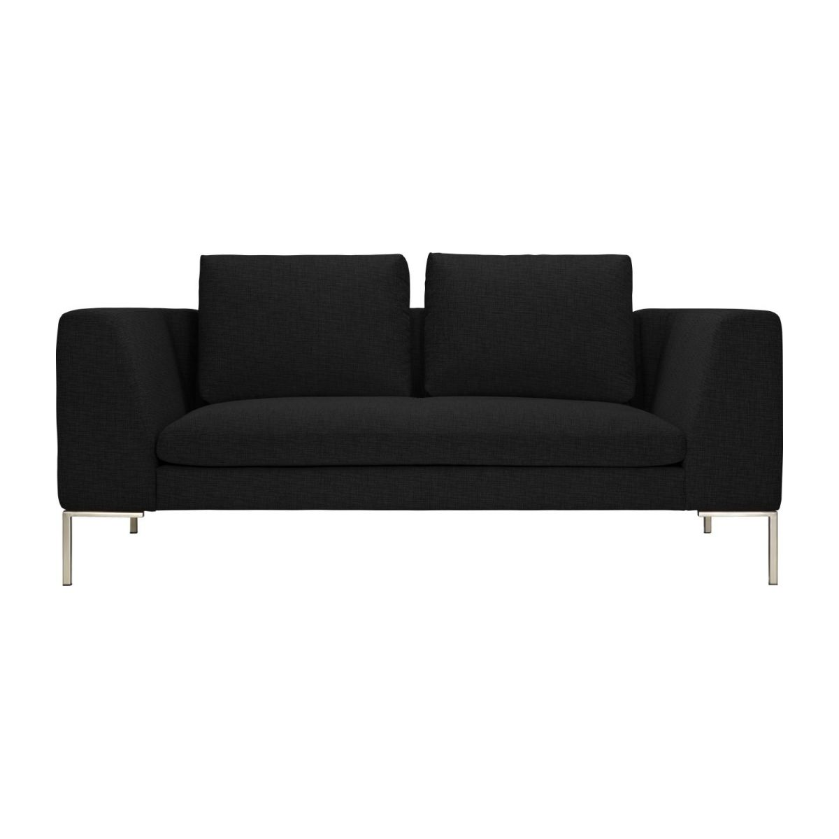 2 seater sofa in Ancio fabric, nero n°4
