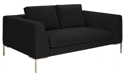 2 seater sofa in Ancio fabric, nero