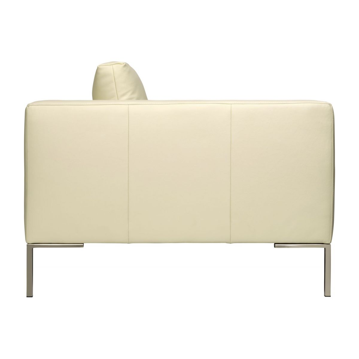 2 seater sofa in Eton veined leather, cream n°5
