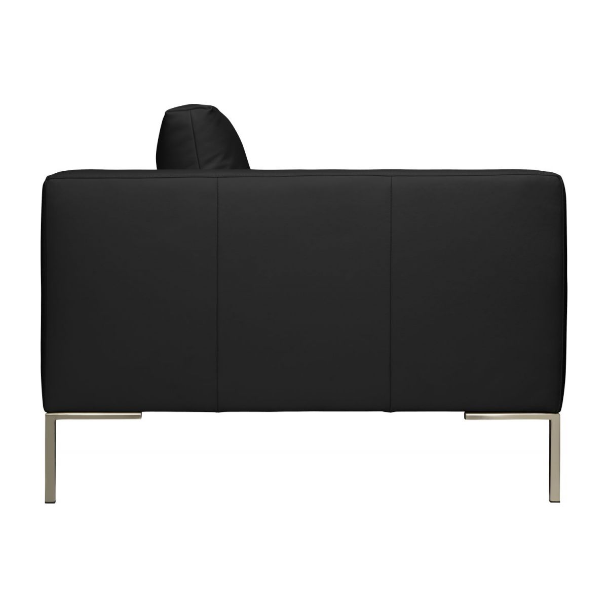 2 seater sofa in Eton veined leather, black n°6
