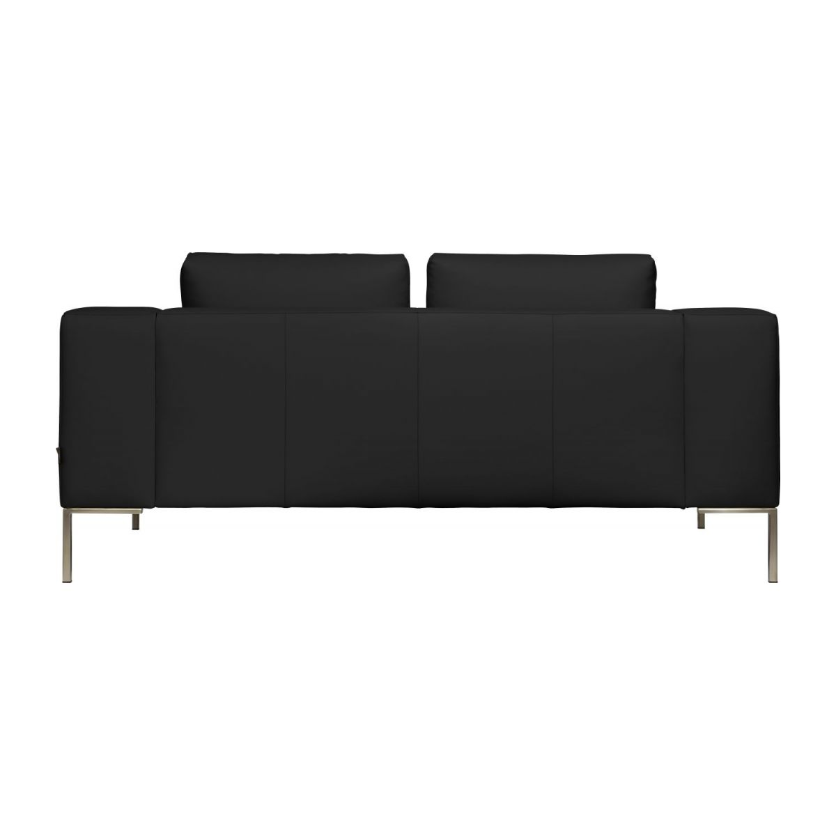 2 seater sofa in Eton veined leather, black n°5
