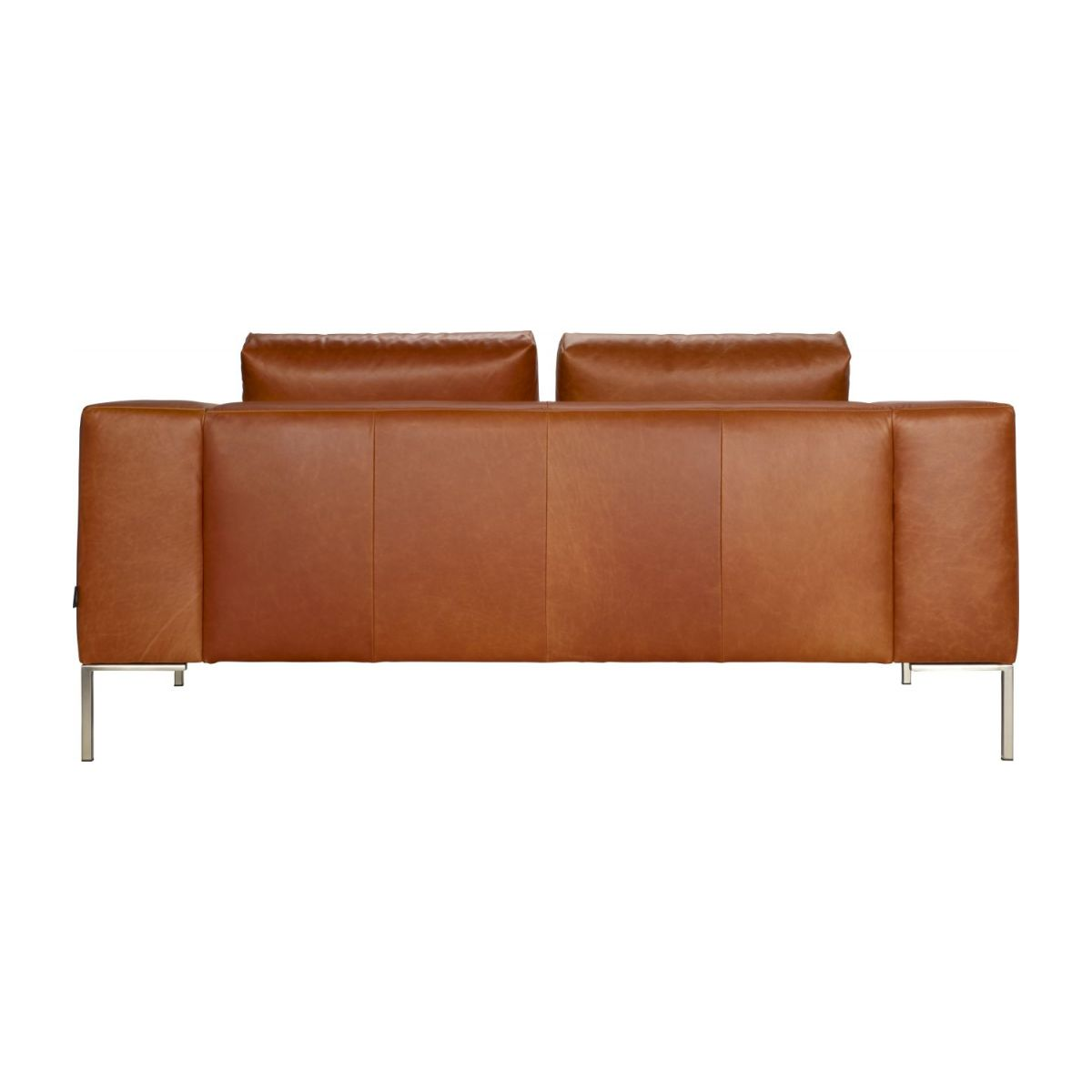 2 seater sofa in Vintage aniline leather, old chestnut n°5