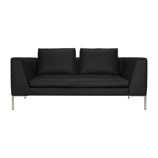 montino 2 sitzer sofa mit lederbezug habitat. Black Bedroom Furniture Sets. Home Design Ideas