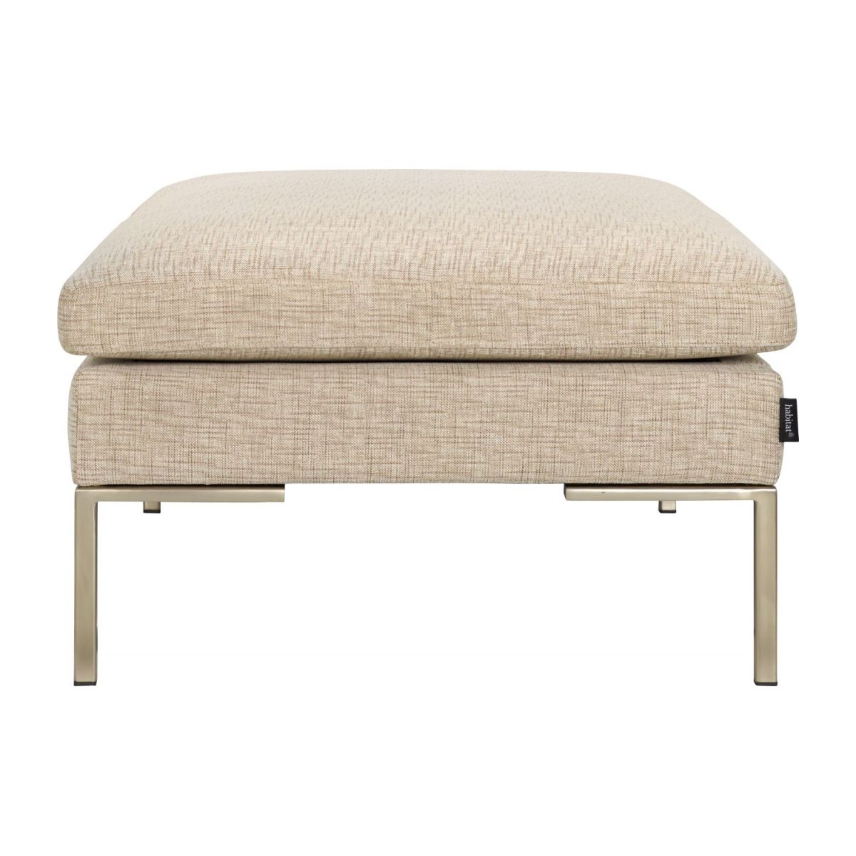 Footstool in Ancio fabric, nature n°4