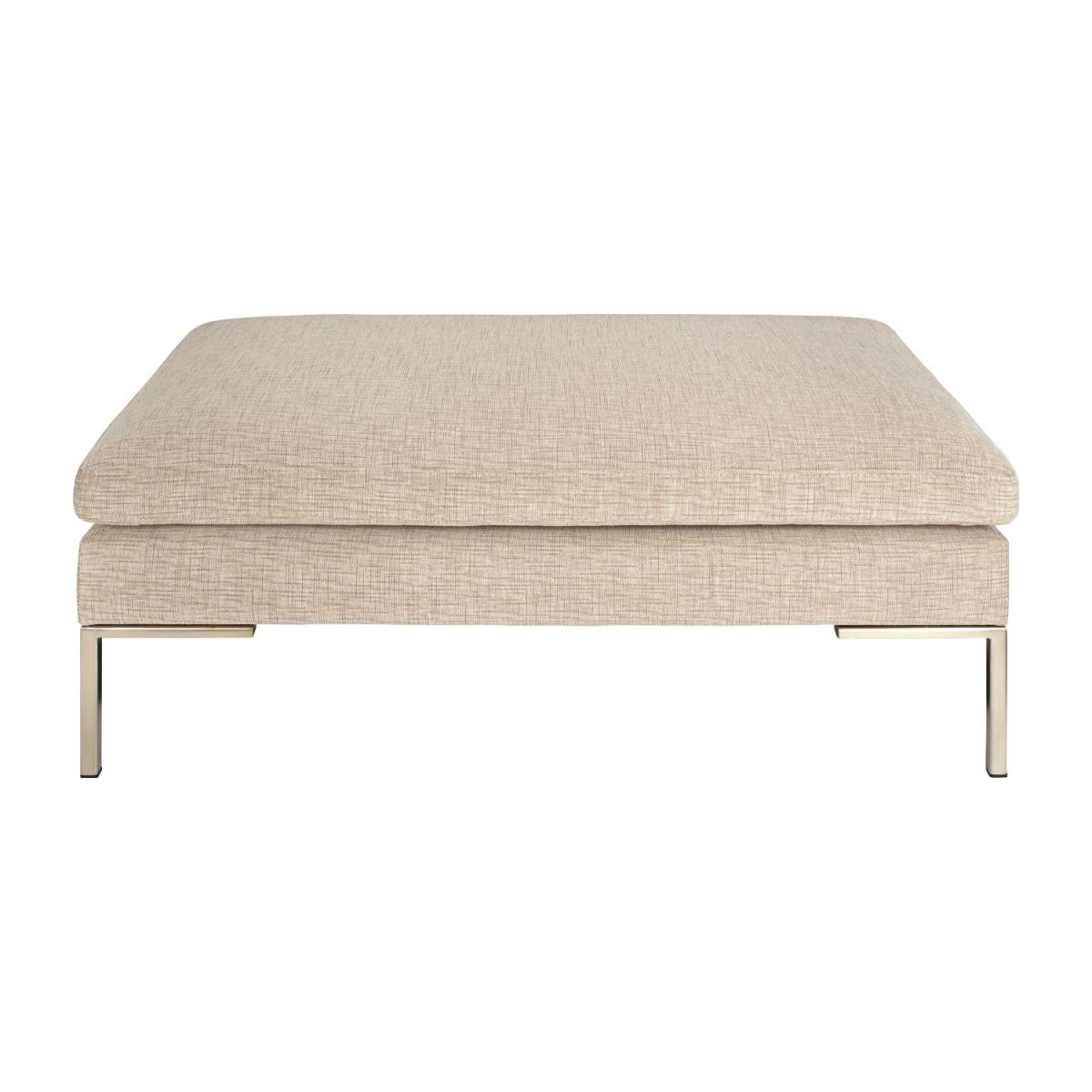 Footstool in Ancio fabric, nature n°2