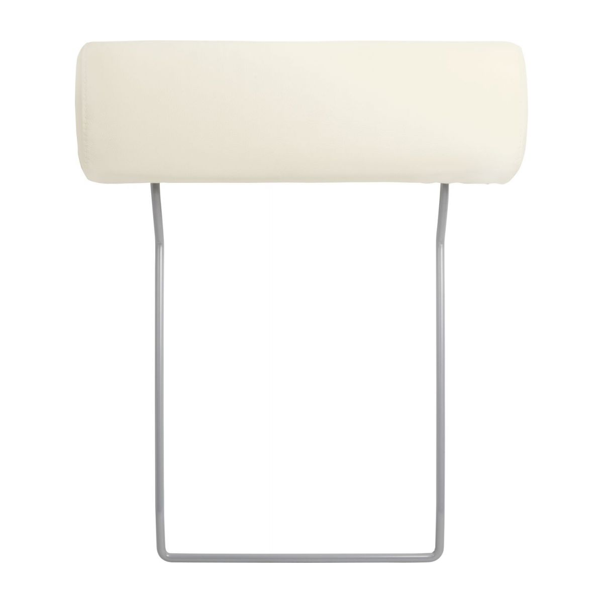 Headrest in Eton veined leather, cream n°2