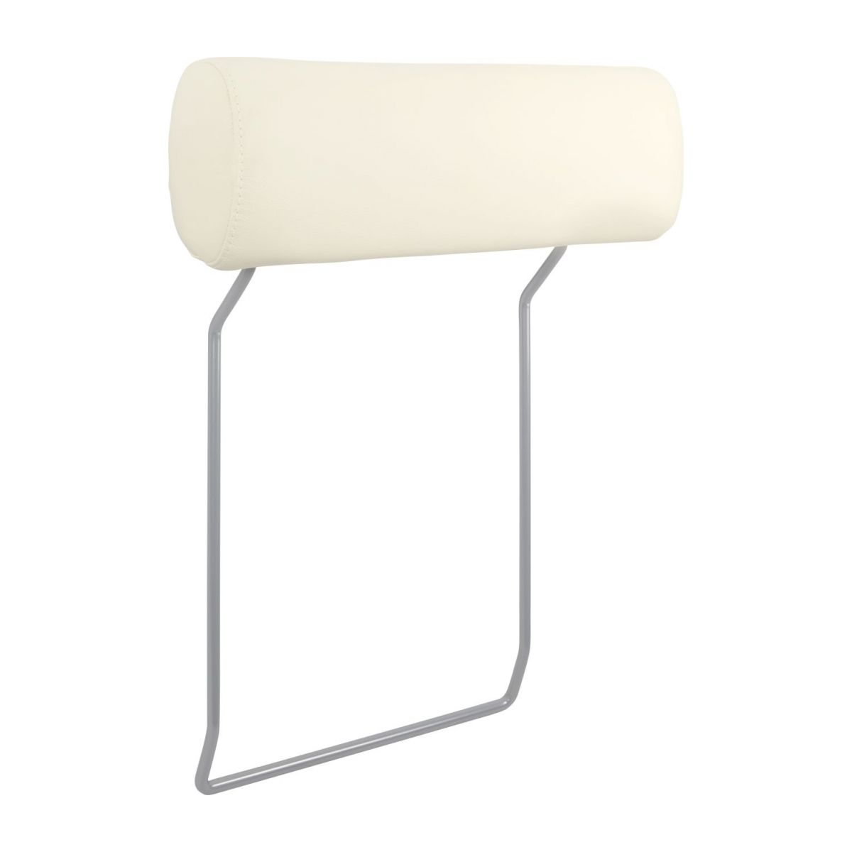 Headrest in Eton veined leather, cream n°1