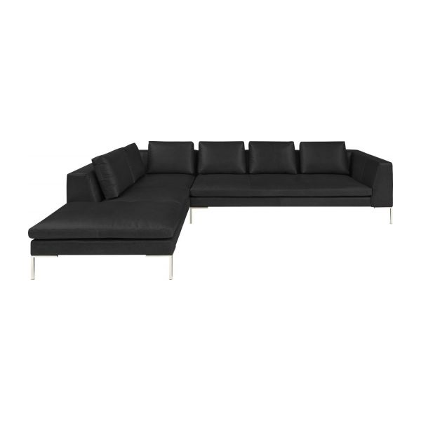 Montino canap 3 places en cuir aniline pullman soft for Canape 3 places plus meridienne