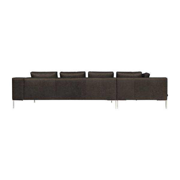 montino 3 sitzer sofa mit lederbezug und chaiselongue links habitat. Black Bedroom Furniture Sets. Home Design Ideas