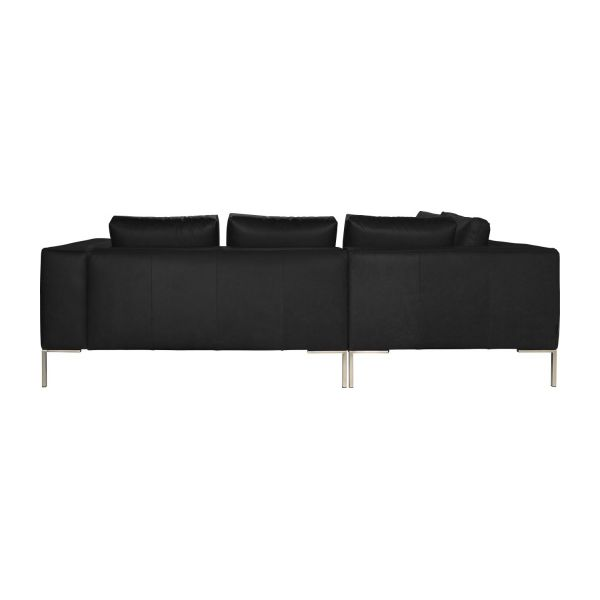 Montino canap 2 places en cuir aniline pullman soft for Canape 2 places avec meridienne