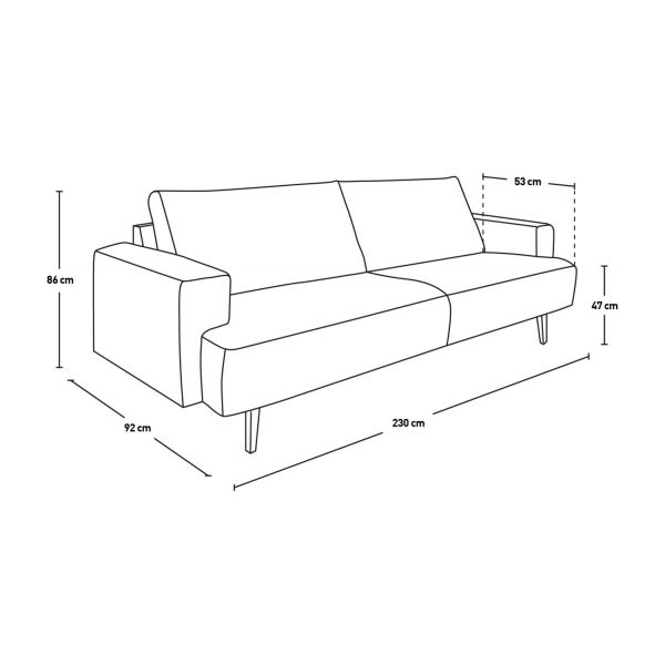 fabric 3-seater sofa n°7