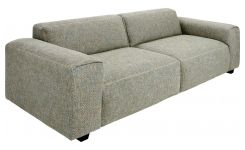 4 seater sofa in Bellagio fabric, organic green