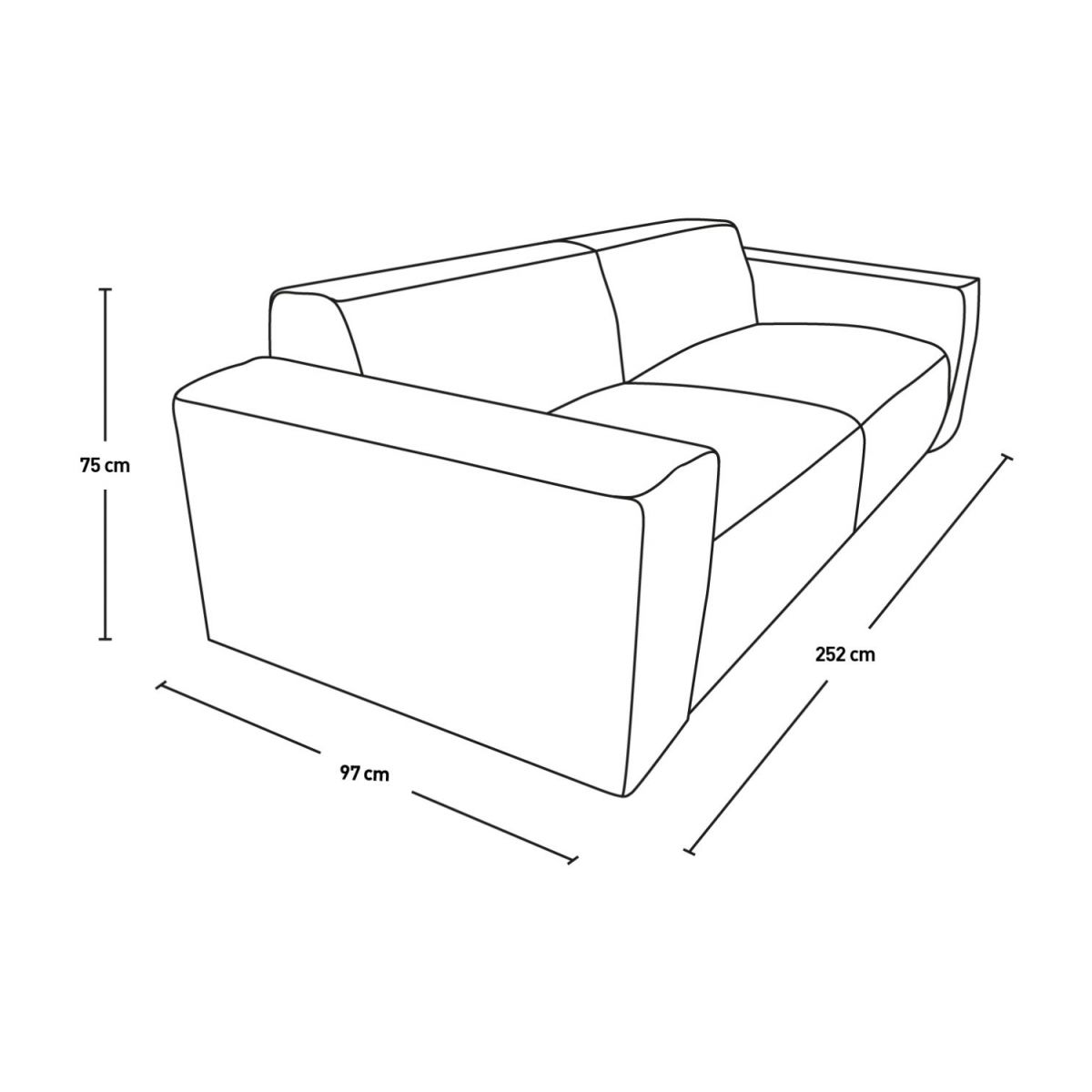 4-seter sofa, sort n°12