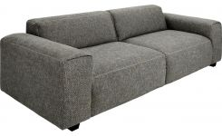 4 seater sofa in Bellagio fabric, night black