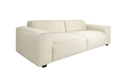 4 seater sofa in Lecce fabric, nature