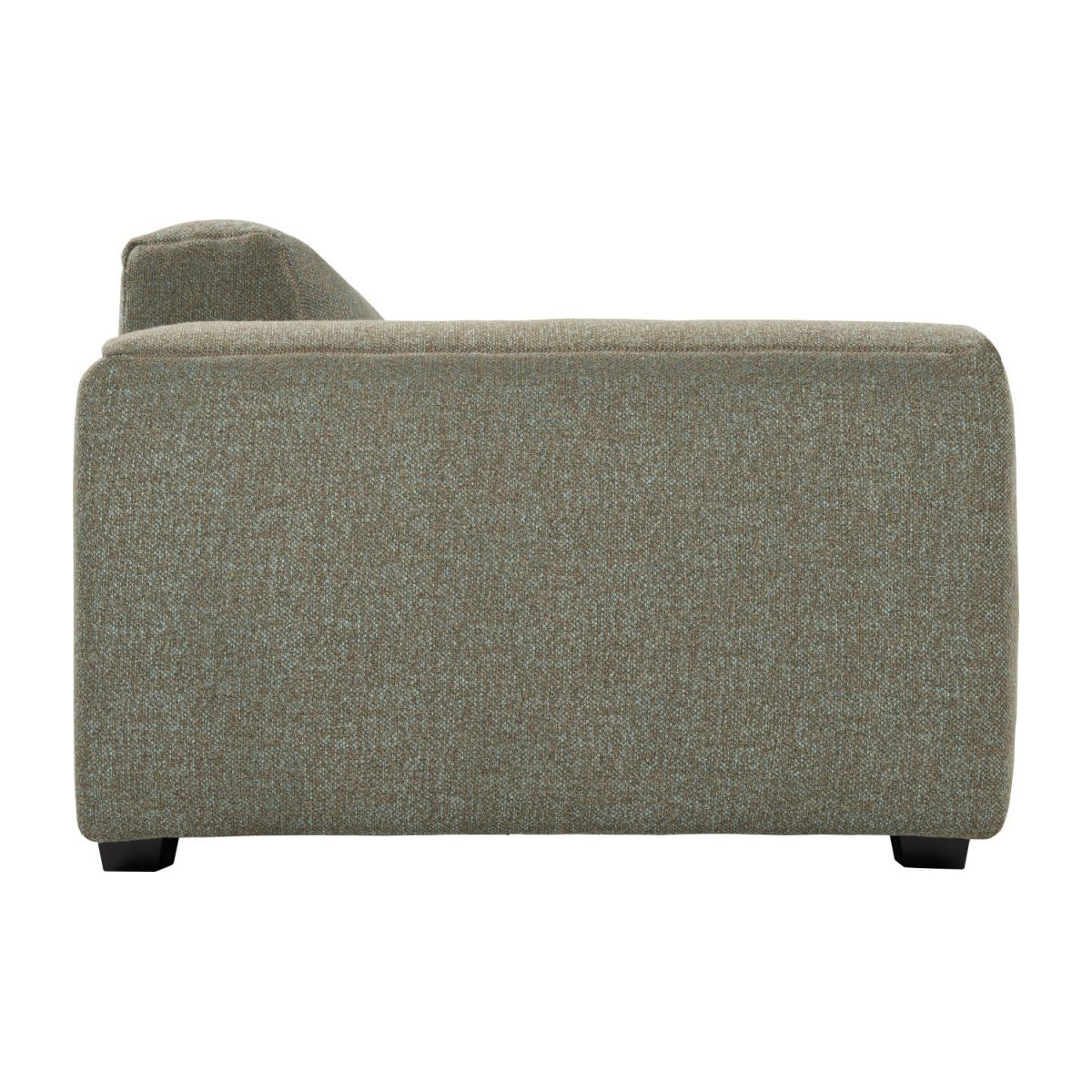 4 seater sofa in Lecce fabric, slade grey n°4