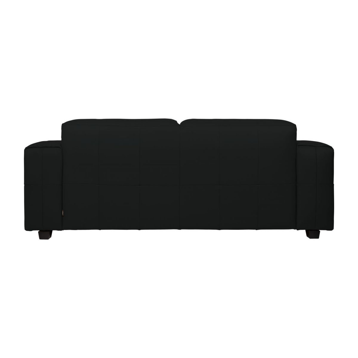 4 seater sofa in Savoy semi-aniline leather, platin black n°5