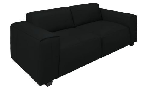 4-seter sofa, sort skinn