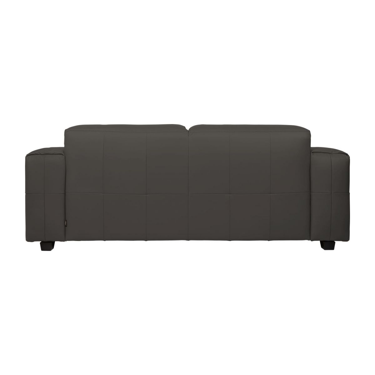 4 seater sofa in Savoy semi-aniline leather, dark brown amaretto n°5