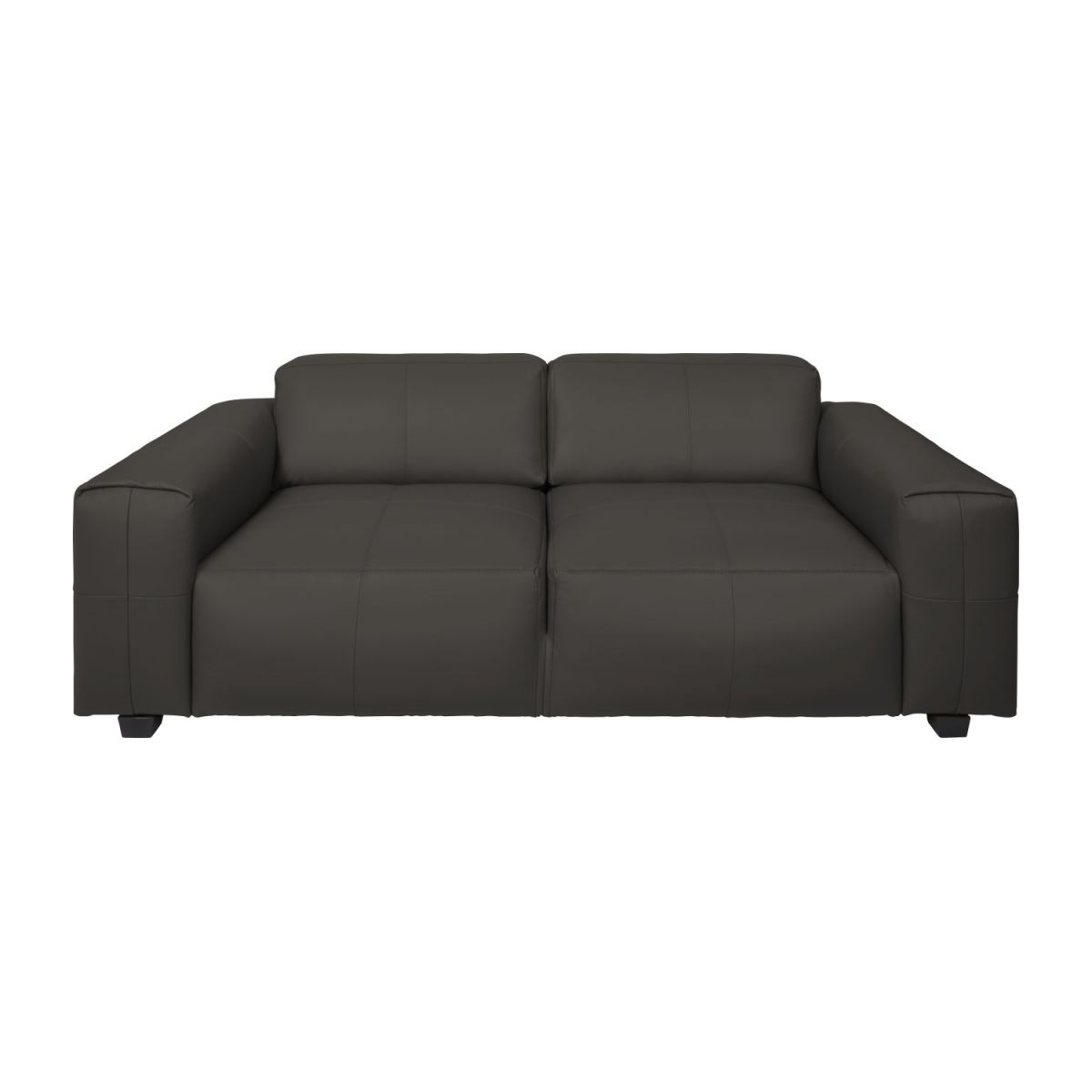 4 seater sofa in Savoy semi-aniline leather, dark brown amaretto n°3