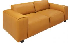 4 seater sofa in Savoy semi-aniline leather, cognac