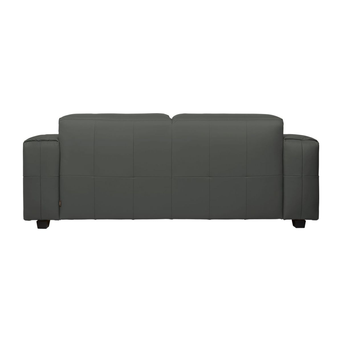 4 seater sofa in Savoy semi-aniline leather, grey n°4