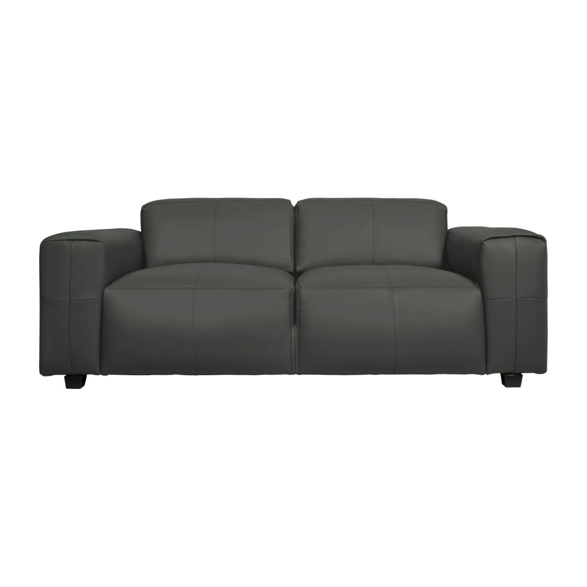 4 seater sofa in Savoy semi-aniline leather, grey n°3