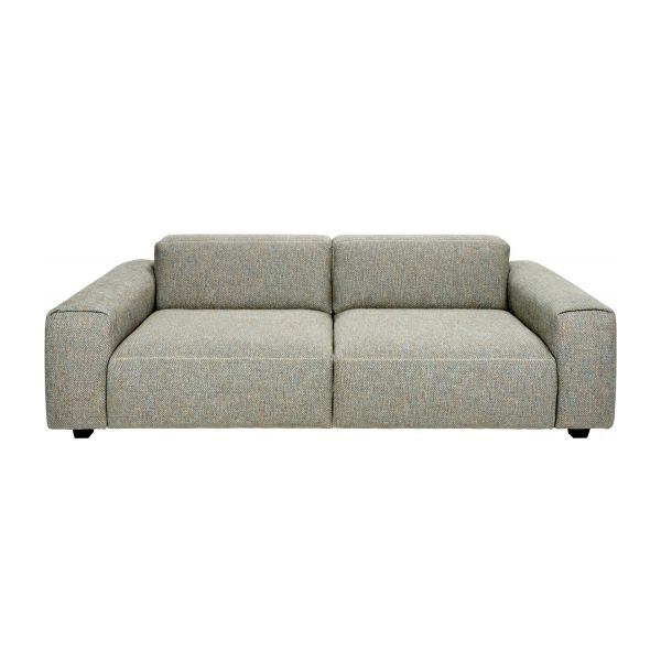 Superb 3 Seater Sofa In Bellagio Fabric, Organic Green N°2