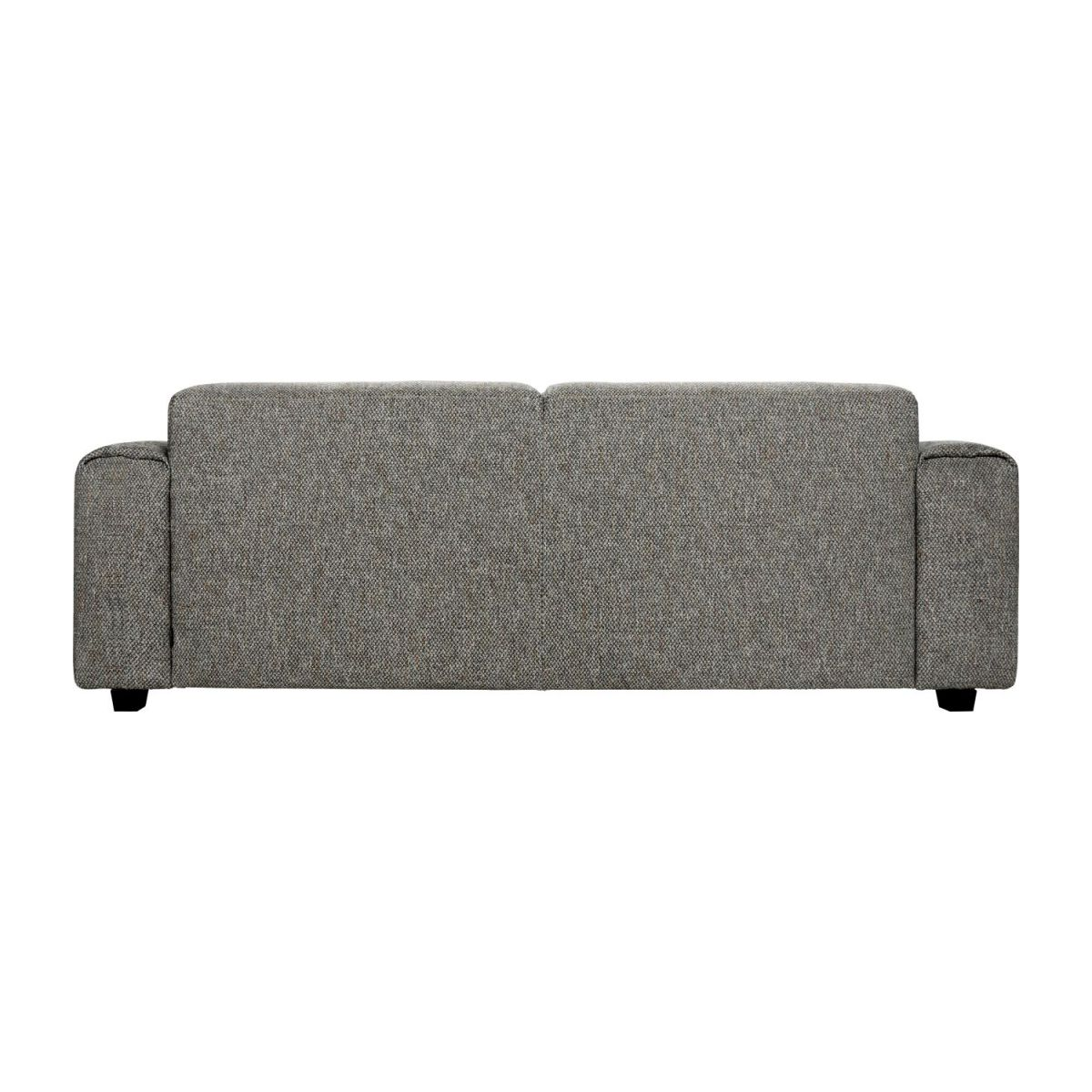 3 seater sofa in Bellagio fabric, night black n°5
