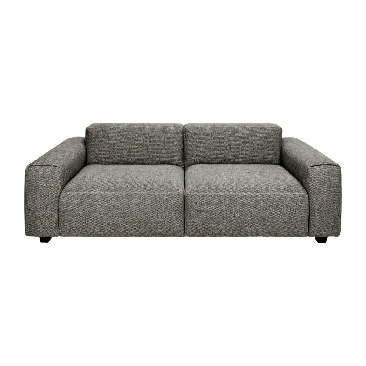 3 seater sofa in Bellagio fabric, night black n°3