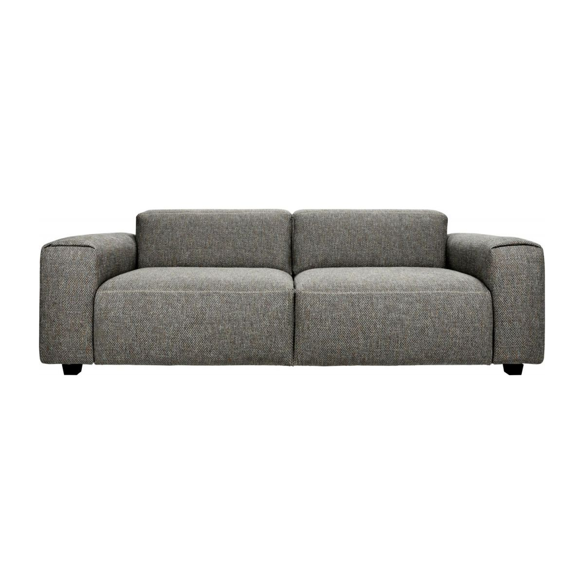 3 seater sofa in Bellagio fabric, night black n°4
