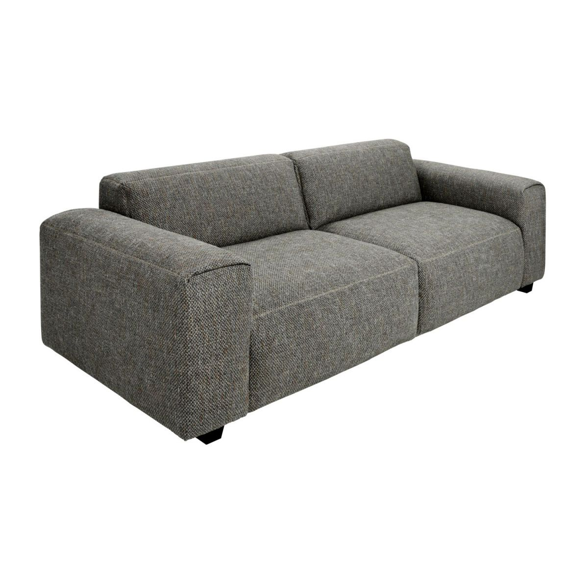 3 seater sofa in Bellagio fabric, night black n°1