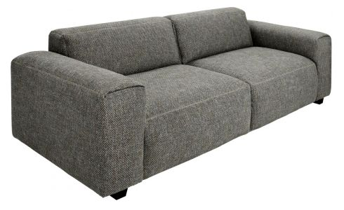 3 seater sofa in Bellagio fabric, night black