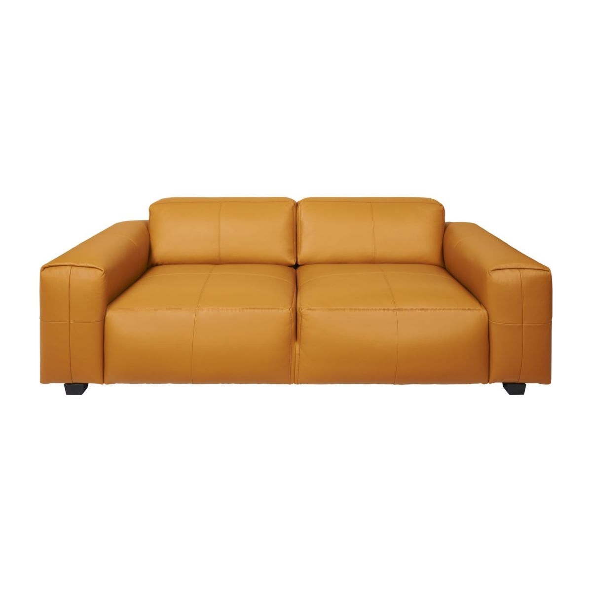 3 seater sofa in Savoy semi-aniline leather, cognac n°2