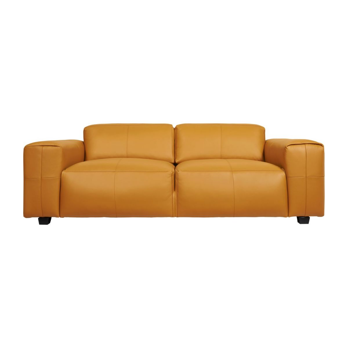 3 seater sofa in Savoy semi-aniline leather, cognac n°3