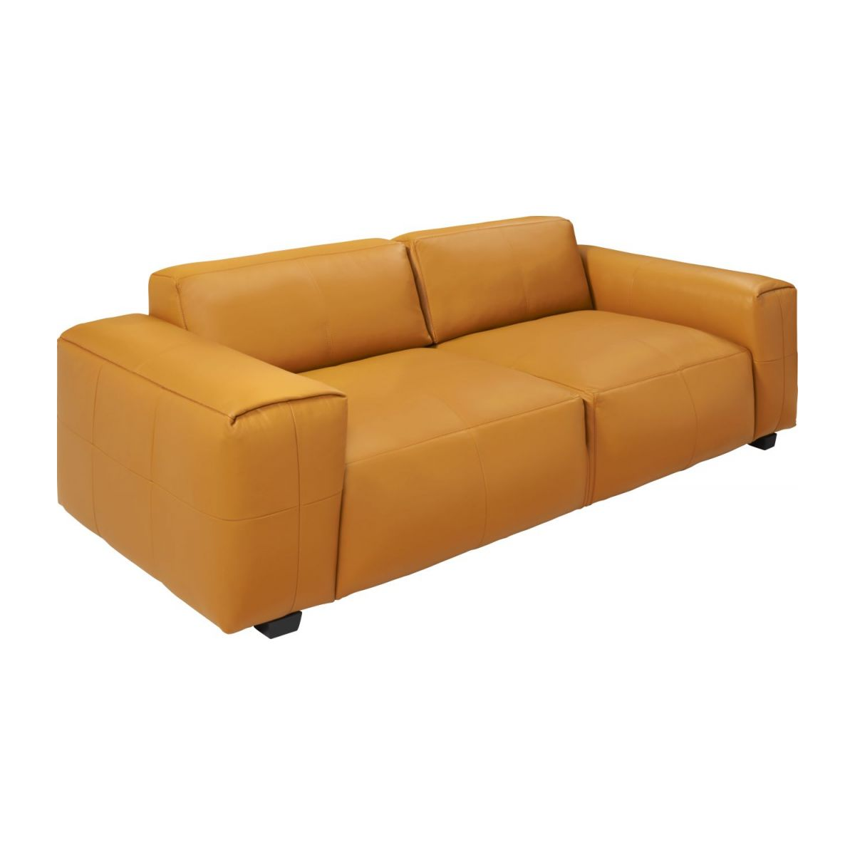 3 seater sofa in Savoy semi-aniline leather, cognac n°1
